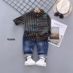 Set áo sơ mi quần jean phong cách cá tính giá sỉ