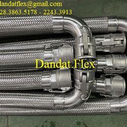 Ống dẫn khí nóng - ống mềm dẫn nhiệt - Ống dẫn hơi nóng loại nối ren uns - khớp nối mềm inox lắp ren giá sỉ