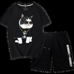 Bộ quần áo thể thao nam mẫu con mèo giá sỉ