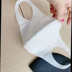 Khẩu trang vải không dệt poli 3lop giá sỉ