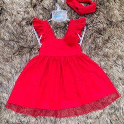 Đầm bé gái phủ lưới đỏ giá sỉ