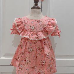 Váy em bé hoa tiểu thư bèo cổ giá sỉ