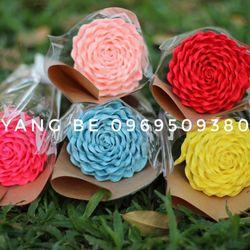 Bó hoa hồng xoắn 1 bống giấy handmade giá sỉ