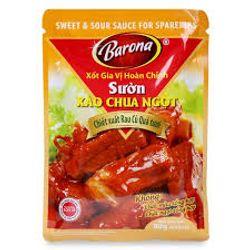 Xốt gia vị hoàn chỉnh Sườn xào chua ngọt Barona 80g giá sỉ