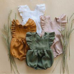 Váy thiết kế chất liệu linen cho bé giá sỉ