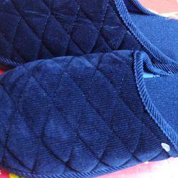 Dép vải Dép vải đế dầy free size 32k 1 đôi xanh dương giá sỉ