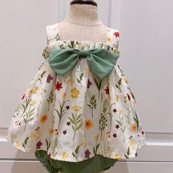 Đầm bé gái sét rời hoa cỏ giá sỉ