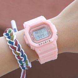 Đồng hồ điện tử nam nữ Sport màu hồng cực hot giá sỉ