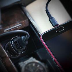 Bộ Cóc Cáp Sạc Xe Hơi Borofone BZ13 BZ-13 Cổng Micro-2 Cổng USB giá sỉ