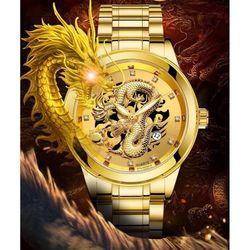 Đồng hồ nam cao cấp full lịch kim vàng giá sỉ