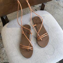 Sandal xỏ ngón 2 quai ngang mảnh hậu cột dây- SX-25014 giá sỉ
