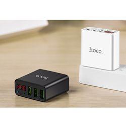 Cóc sạc nhanh HOCO C15 30A 3 CỔNG có màn hình LCD hiển thị điện áp giá sỉ