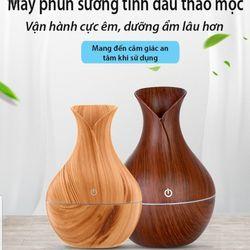 Máy xông tinh dầu vân gỗ cổ cao giá sỉ