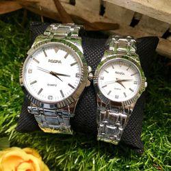 Đồng hồ nam nữ dây thép