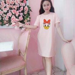 Đầm suông cotton fom rộng