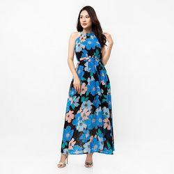 Đầm maxi cổ yếm hoa – MS0474D giá sỉ