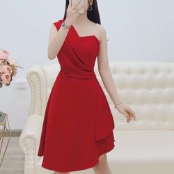 Đầm xoè kiểu dây cườm chất thun umi
