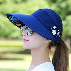 Mũ chống nắng Hàn Quốc, Nón rộng vành che nắng, Mũ chống nắng kiểu nữ có thể gập gọn, phù hợp đi dã ngoại, đi chơi giá sỉ