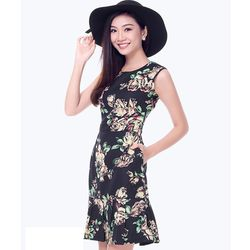 Đầm hoa xếp ly phong cách - MS0450D giá sỉ