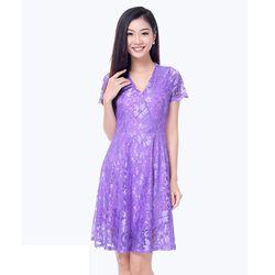 Đầm xòe ren Mina – MS0454D giá sỉ