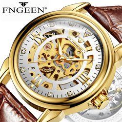 Đồng hồ cơ FNGEEN da giá sỉ