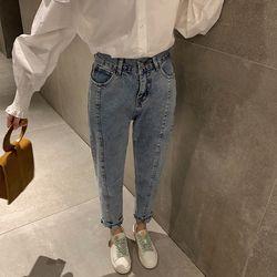 Quần Jeans Nữ Baggy Phối Đường May Đẹp - Mã: 299