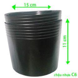 1.000 sỉ Chậu nhựa trồng cây C6 15x11x11 trồng cây và ươm cây gióng-77100