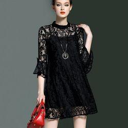 Đầm ren suôn tay loe Cara – MS0332D giá sỉ
