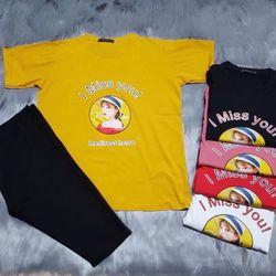 Áo phông bầu - quần ngố (cả sét) giá sỉ