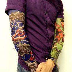 Bộ 02 ĐÔI găng tay hình xăm tattoo hoạ tiết ngẫu nhiên giá sỉ