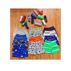 Combo 10 quần đùi hàng cho bé trai ( họa tiết ngẫu nhiên) giá sỉ