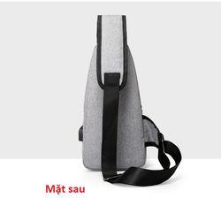 Túi đeo chéo Túi đeo chéo nam / nữ Túi đeo chéo cổng sạc USB hàng Quảng Châu giá sỉ