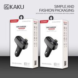 Mẫu mới kaku tẩu sạc ô tô kiêm nghe nhạc MP3.,kết nối điện thoại qua bluetooth , kết nối dàn âm thanh trên xe qua sóng FM 87.5 giá sỉ