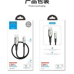Cáp sạc nhanh dây dù dài 3M , 3A có đèn joyroom S-M411 cho iPhone /micro/type-c giá sỉ