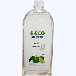 Nước rửa chén từ thực vật Reco đậm đặc hai lần cho da nhạy cảm với tinh dầu quế sát khuẩn 800ml giá sỉ