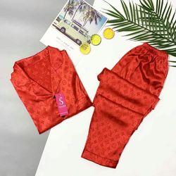 Bộ đồ ngủ nữ hàng Gấm họa tiết các màu giá sỉ