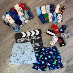 Combo 10 quần đùi bozip hàng cho bé trai ( họa tiết ngẫu nhiên) giá sỉ