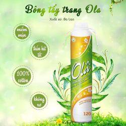 Bông tẩy trang Ola 120 miếng cotton Pads Ba Lan
