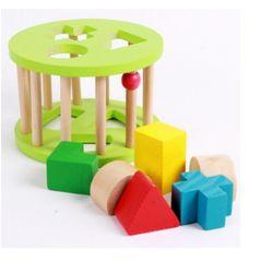 (TUYỂN SỈ CỘNG TÁC VIÊN - TOÀN QUỐC) Xe vịt thả hình - Đồ chơi giáo dục rèn luyện trí tuệ an toàn cho bé Kagonk 16502 giá sỉ