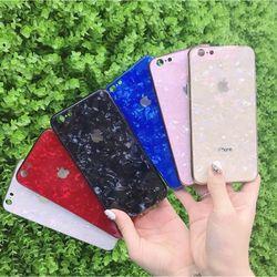 Ốp kính cường lực vân đá viền dẻo cùng màu với lưng máy IPhone 6 đến 11 Pro Max giá sỉ