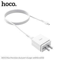 Bộ củ cáp sạc HOCO DC01 Max Micro USB Giá tốt giá sỉ