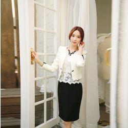 Bộ set Áo Ren, áo khoác, chân váy cho cô nàng công sở - MS0011HD giá sỉ