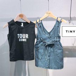 Set Yếm Đầm Jean + Áo Thun Chữ 10-25kg giá sỉ