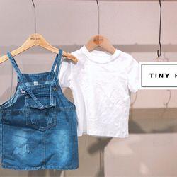 Set Yếm Váy + Áo Thun Bé Gái (10-25kg) giá sỉ