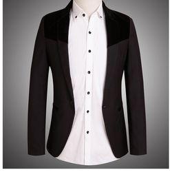 Áo vest nam phối nhung cá tính – 0030AK giá sỉ