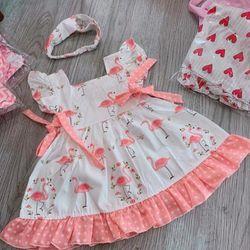 Đầm Bé gái Hồng hạc