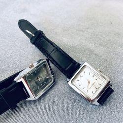 Đồng hồ nữ dây da mặt chữ nhật