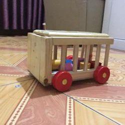 Đồ chơi xe cũi thả hình Minh Thành - Đồ chơi gỗ giáo dục cho bé Kagonk 16514 giá sỉ