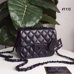 Túi full đen khoá chữ x size 18cm giá sỉ
