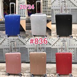 Vali nhựa du lịch 836 1 bộ 20 inch và 24 inch Shalla giá sỉ